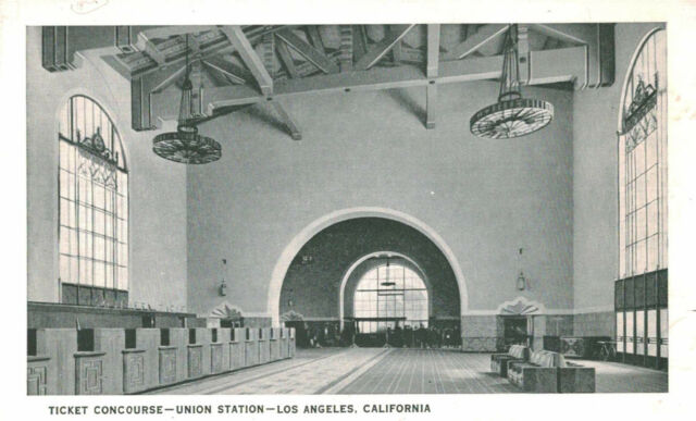 Los Angeles,California,Union Station,Ticket Concourse,Fred Harvey,1939