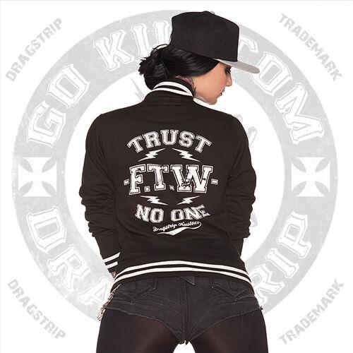 Tattoo Black Clothing Lucky Dragstrip Baseball Jacket 13 Trust One Girl No Biker Ftw z7BB4F