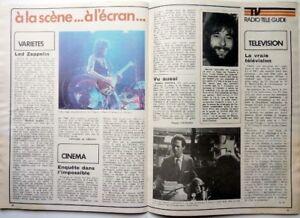 Mag-1975-LED-ZEPPELIN-AVENI-GROSSES-VOITURES-DESSINS-DE-PLANTU-LE-MOZAMBIQUE
