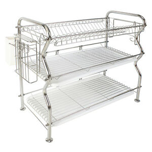 Attractive Image Is Loading NEX 3 Tier Stainless Steel Dish Rack Over