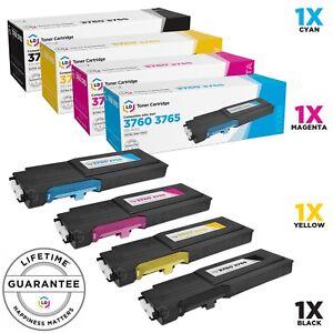 LD-4pk-Comp-Toner-for-Dell-C3760-C3765-Black-Cyan-Magenta-Yellow-C3760dn-4DV2