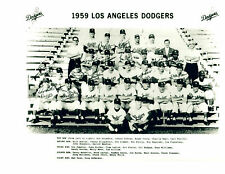 1959 LOS ANGELES DODGERS WORLDS CHAMPS 8x10 PHOTO TEAM  BASEBALL  HOF