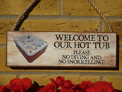 HOT TUB SIGN HOT TUB PLAQUE YOUR OWN WORDING YOUR OWN NAMES OUTDOOR SIGN GARDEN
