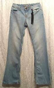 New-Distressed-LOW-Rise-FLARE-Leg-Light-Dirt-Wash-YOM-YOM-Jeans-7-28