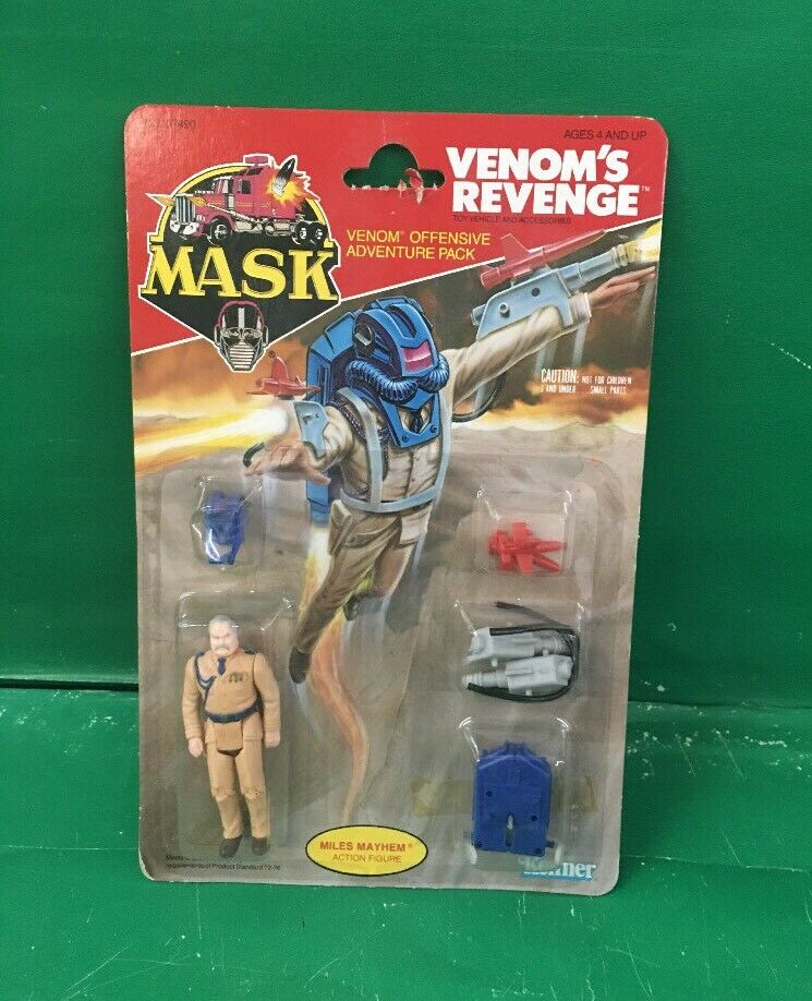1985 MASK  Venom's Revenge   Mikes Mayhem NIC By kenner