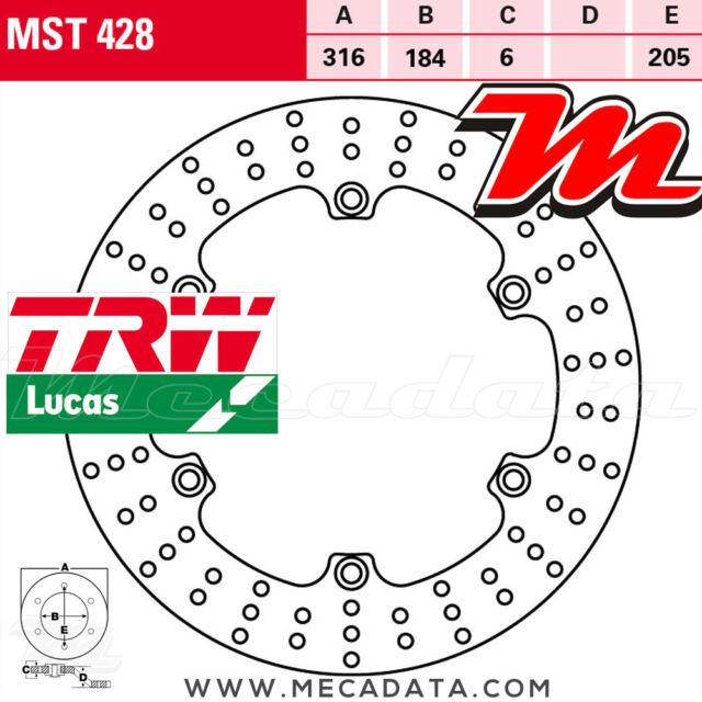 Disque de frein Arrière TRW MST428 Honda ST 1300 A Pan European ABS (SC51) 2002+