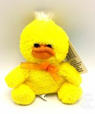 Yellow Duck 6 inch x 5 Inch Plush Stuffed Animal Little Duckie Toy New