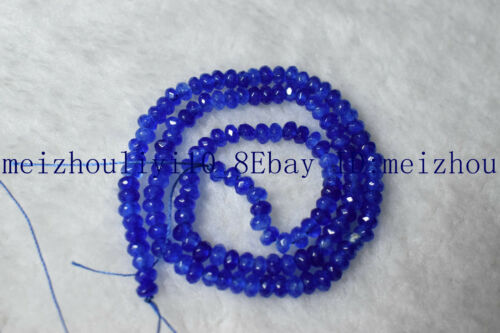 Nouveau 2x4mm Mulitcolor facettes gemtoen roundlle Gemstone Loose Beads 15/'/'AAA