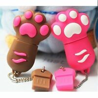 High Speed 8gb Premium Brown pawcute Portable Usb Flash Memory Drive Stick Us