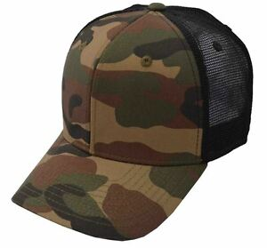 291a46002 Details about DECKY Cotton Curve Bill Trucker Camouflage Cap Green Camo  Black-1054WWB