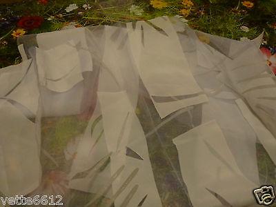 Di Larghe Vedute Neuf !!voilage Blanc Avec Motifs,rideau Pour Petite Fenetre !!1 M 14 H X 80 Cm Per Migliorare La Circolazione Sanguigna