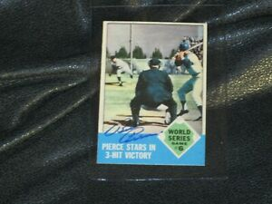 Billy-Pierce-Autographed-1962-World-Series-Game-6-Baseball-Card