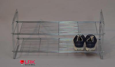 2452 Schuhregal Chromfarben Schuhständer Schuhschrank Schuhablage 7 Paar Schuhe