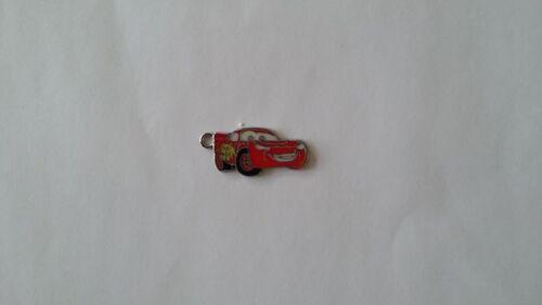 Set 3 Red Cartoon Cars Charms Enamel