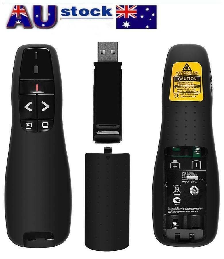 Wireless Presenter Fernbedienung f/ür Office PPT Projektion und Fernbedienung Pointer Presenter