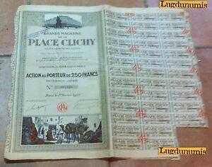 Vereinigt Großen Magasins Der Platz Clichy Action De 250 Franken Paris 1 Februar 1923