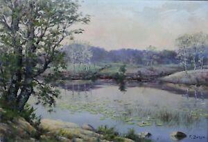 Francois-Marius-Baron-1879-1963-Pond-in-Hollow-Paul-Graf-Crozant-Auvergne