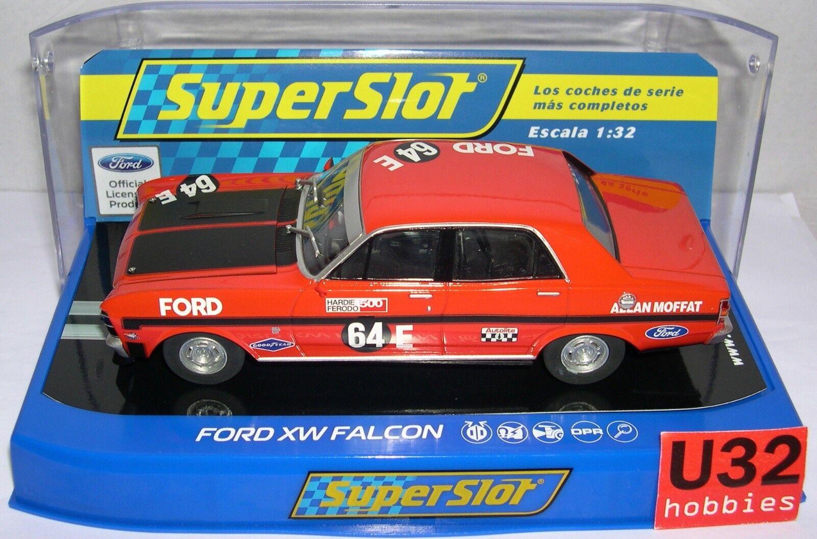 SUPERSLOT H3872 FORD FAUCON XW  64 1970 BATHURST ALLAN MOFFAT SCALEXTRIC RU MB