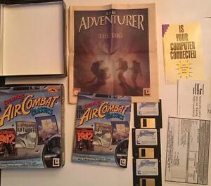 LucasArts-Air-Combat-Classics-PC-Disks-3-Flight-Sims-Games-Big-Box-Set-Rare