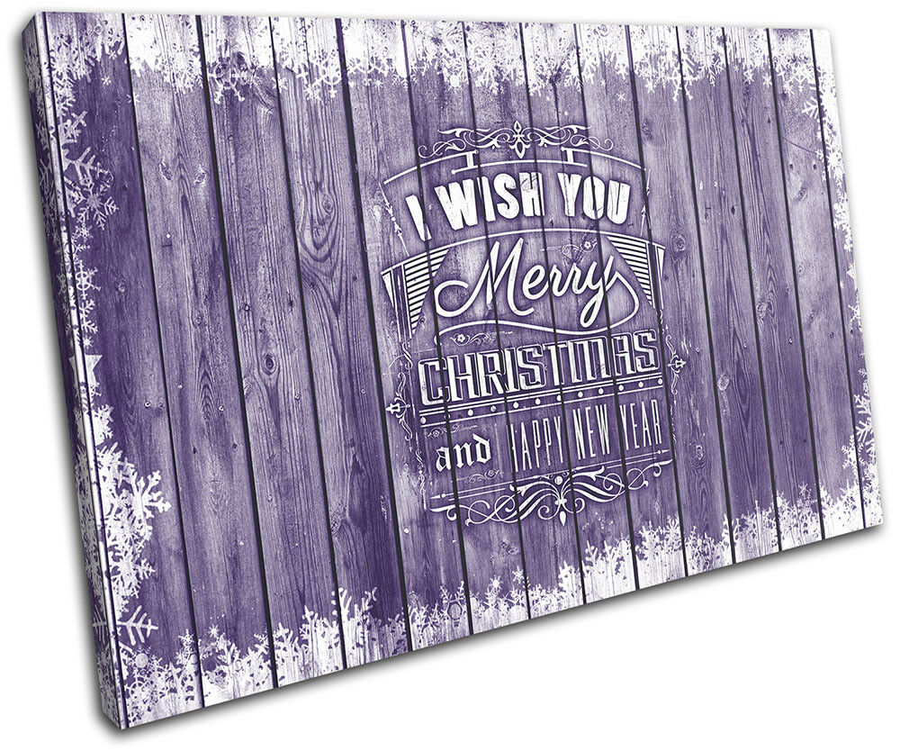 Christmas Decoration Wall Canvas ART Print XMAS Picture Gift Wood 20 lila Chri