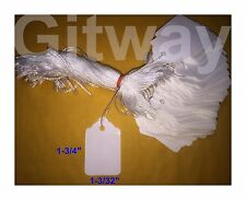 1000 Small Merchandise White Blank Hang Jewlry Display Tag Tags Hung With String