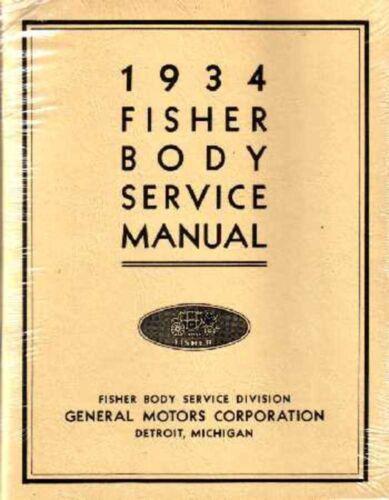 Manuals & Literature 1934 Buick Cadillac Chevrolet Body Service ...