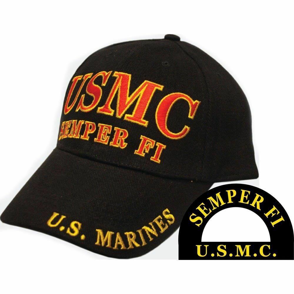 United Zustand Marines - Bestickt Herren Ball Kappe Mit Messing Schnalle