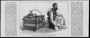 1874-Antique-Print-SCIENCE-INVENTION-Aerophore-Mine-Exploration-161