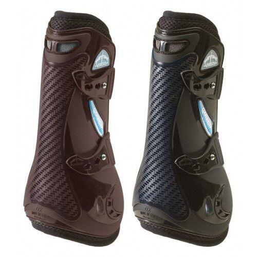 Veredus CARBON GEL VENTO Airflow Cool TENDON Showjumping Boots Black/Brown M/L