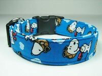 Charming Snoopy Peanuts Red Baron Adjustable Standard Dog Collar
