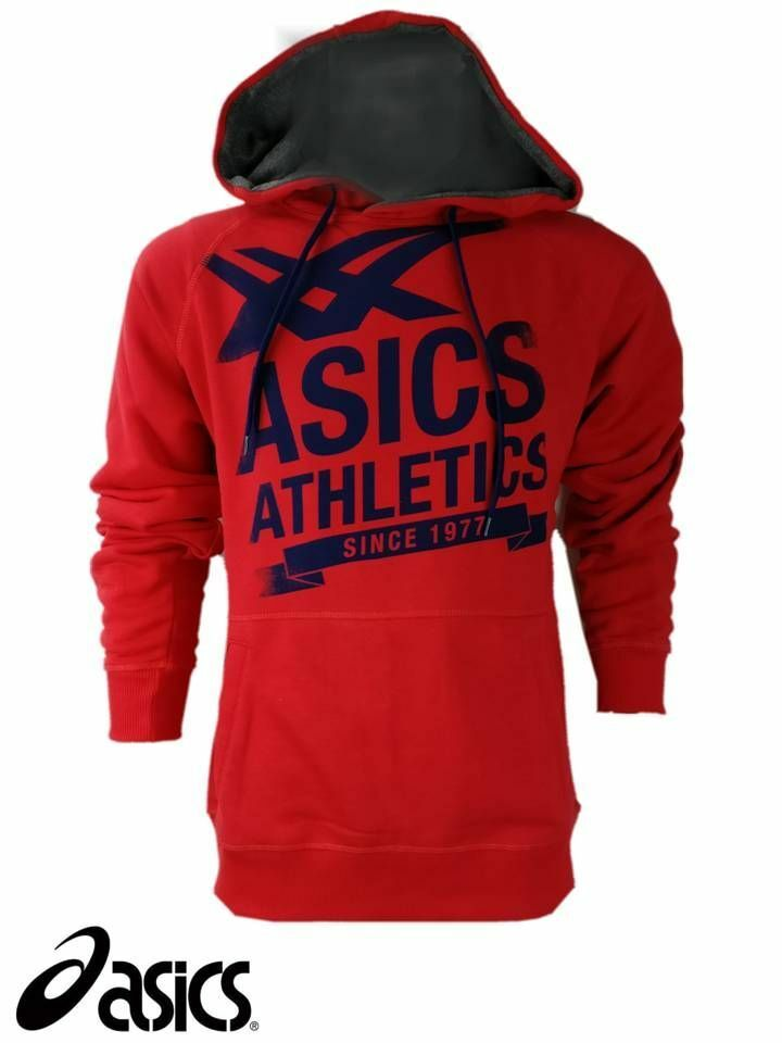 ASICS Homme Taille Large Athletic Rouge Sweat Sweat Sweat à Capuche Hoody Sweat à capuche en polaire à capuche fb415e
