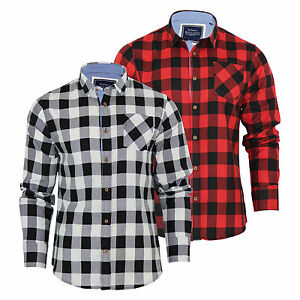 Mens-Check-Shirt-Brave-Soul-Jack-Flannel-Brushed-Cotton-Long-Sleeve-Casual-Top