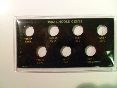 1982 7 LINCOLN MEMORIAL CENT VARIETY HOLDER
