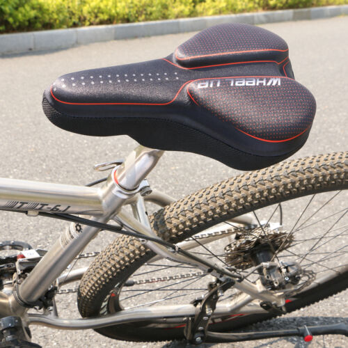 Black Bike Seat Cover Bicycle Gel Padded Saddle MTB Cycling Comfort Soft Cushion