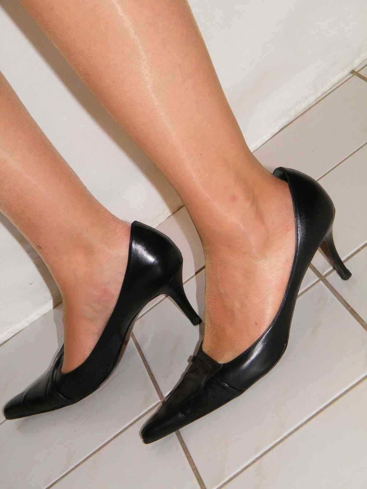 ORIGINAL WALTER STEIGER 8cm Echtleder Pumps Stiletto High Heels - black Gr.41+