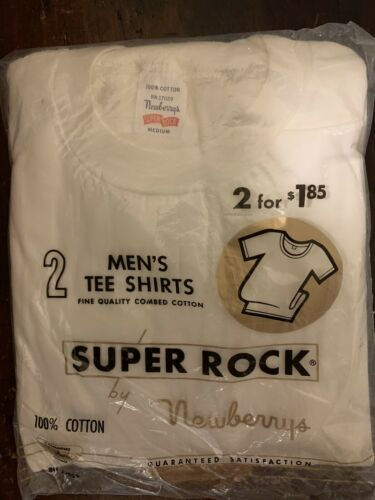 Vtg 50s/60s Newberrys Super Rock T-Shirts Undershi