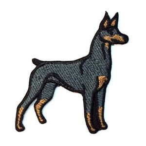 Doberman Pinscher Iron On Embroidered Patch
