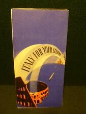 Nice Italy For Your Leisure Travel Brochure 1939 New York Worlds Fair Hand Out