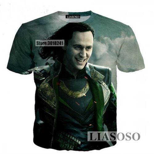 Summer New Men//Women Movies Thor Ragnarok Funny Fashion 3D Print Casual T-Shirt