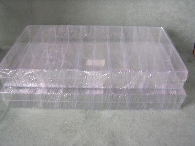 2 Stück Sortimentskästen, Sammelboxen, 20-er transp., Sortierbox, Aufbewahrung