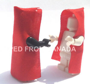 x2 RED HOODED Cape Lego Star Wars Sith Harry Potter Castle King Batman minifig