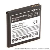 1800mAh Battery for HTC Amaze 4G HTC EVO 3D HTC EVO V 4G HTC Sensation XE