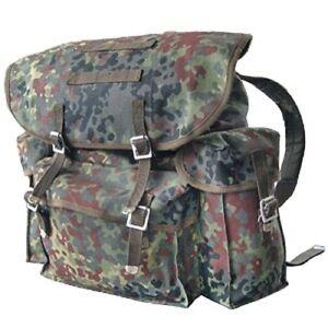 BW-Bundeswehr-Flecktarn-Rucksack-Tasche-Packtasche-Kampftasche-Armee-Militaer-NEU