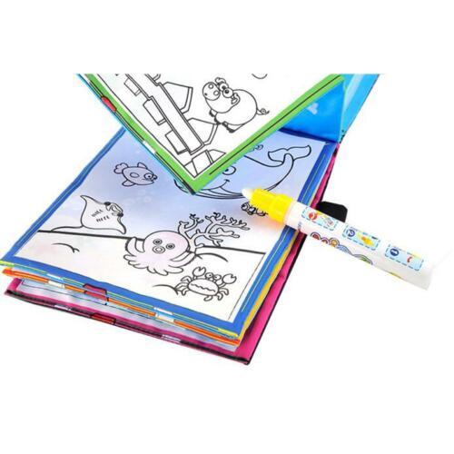 Kids Magischer Wasser Zeichnungs Malbuch Gekritzel Magic Pen Animals Painting
