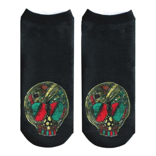 SUGAR SKULL Girls Ladies Cotton FOOTIE ANKLE Socks One Size fits MOST