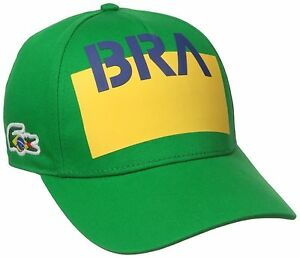 8269a151738 Image is loading Lacoste-Sport-Supporter-Brazil-Flag-Crocodile -Green-Baseball-