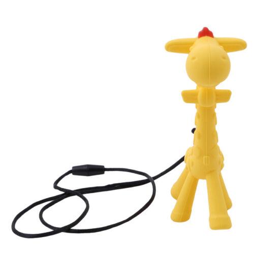 Giraffe Shape Teething Necklace Baby Teether Nursing Chew Silicone Pendant LH