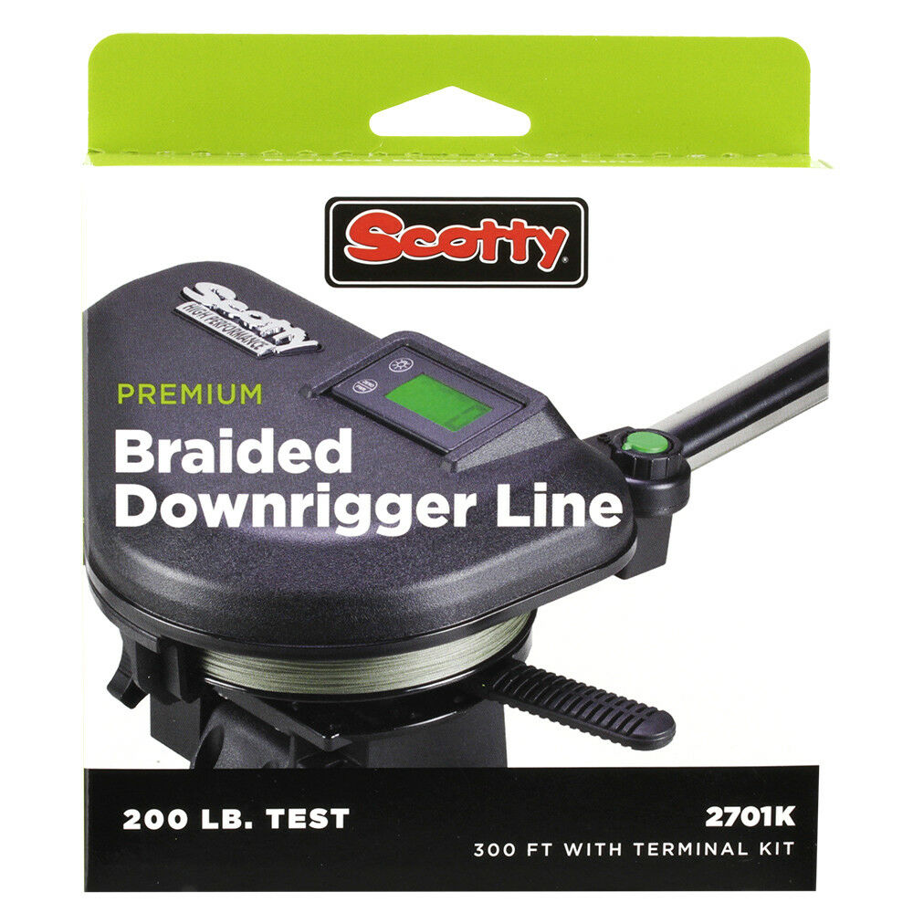 Scotty Premium Power Braid Downrigger Line - 300ft of 200lb Test