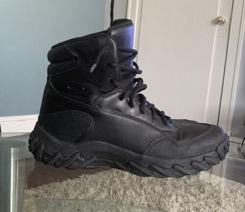 Okley Elite Mens Black Leather Asalt Boots Sz 11.5