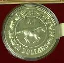 1990-1st-Series-Zodiac-Silver-Proof-Coin-Yr-Of-The-Horse-In-Box-Of-Issue-W-COA